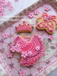 バレエアイシングクッキー*チュチュのデザイン考え中*紫陽花 - nanako*sweets-cafe♪