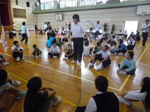 小中合同集会 - 大島町立つつじ小学校