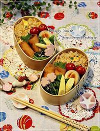 炒飯・春巻き弁当と我が家のワンコ♪リク☆11歳♪ - ☆Happy time☆