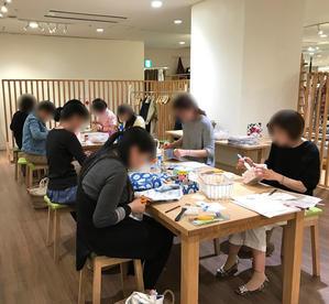 4月の北欧生地で作るカルトナージュ教室~2日目午後の部~ - 明石・神戸・姫路・加古川のカルトナージュ&タッセル教室 アトリエ・ペルシュ