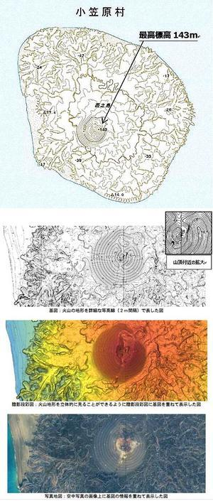 国土地理院から西之島新地形図が6月30日に発売されます - 哲のphoto box