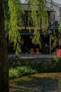 白川沿いのカフェ~白川カフェ - 鏡花水月