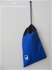 手作り アウトドア用防水生地で作った袋♪ ~セリアさんのタグでワンポイント~** - &m 手作りのキロク。。
