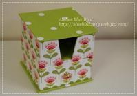 Lesson作品・ティルダでメモ帳ボックスetc. - ☆Blue Bird☆cartonnageからの贈り物