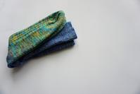 靴下:青と緑 - bobbi*ncase