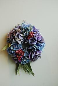 アジサイのリース作りのレッスン募集のお知らせ。 - 花と暮らす店 木花 Mocca