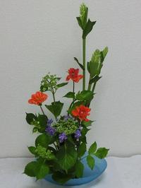 今日のお稽古花 ~紫陽花~ - 花とaromaとうさぎとかのん