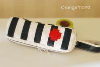 2cmボーダーのエピペンケース - Orange*nana:はりねずみが今日も作っちゃうよぉ!
