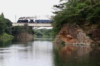 鬼怒川を渡る黒煙 - 2017年・東武鬼怒川線試運転 - - ねこの撮った汽車