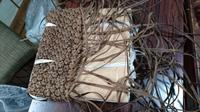 籠編み教室  6月 2 - 古布や麻の葉