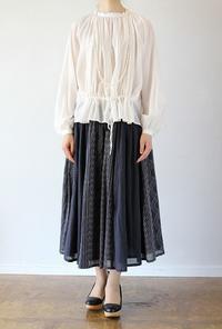 Porter des boutons(ポルテデブトン)ペストリー刺繍切り替えギャザースカート - jasminjasminのストックルーム