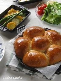 ストウブ ホットプレートで、ふわふわちぎりパン♪ - Cache-Cache+