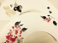 日本画扇子。 - 『一日一畫』 日本画家池上紘子
