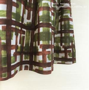 クロスタックのフレアスカート green×brown - petit bonheur~おはりごととかいろいろ~
