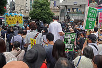 共謀罪反対 渋谷街宣 銀座デモ - ムキンポの exblog.jp