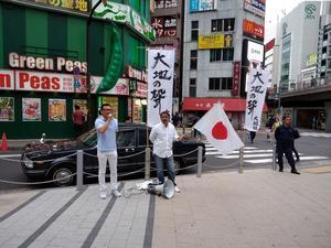 平成廿九年 六月十八日 大地社主催「大地の聲」統一街宣 參加 於新宿區 - 同血社 電腦瓦版