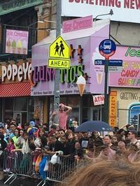 Dancing Between Raindrops at the Mermaid Parade in Coney Island - Made in United State of America