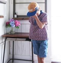 ヘンリーネックシャツ 着画 - yasumin's cafe*