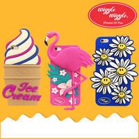 韓国wiggle、フラミンゴ、アイスクリームとデイジーiPhoneケース - cassiey's