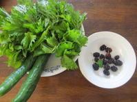 今朝の野菜と桑の実 - 花の自由旋律