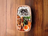 6/23(金)おろし玉ねぎポークソテー弁当 - おひとりさまの食卓plus