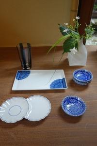 あさがおのお皿達 - g's style day by day ー京都嵐山から、季節を楽しむ日々をお届けしますー