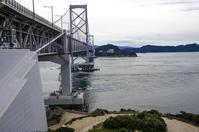 淡路島からの鳴門海峡大橋 - 写真の散歩道