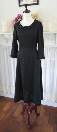 ご注文ワンピース『黒のメアリー』 - いつかリリアン・ギッシュのように…手作りお洋服のあとりえ便り
