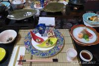 ◆ 復興の東北へ、その3 「蔵王温泉 深山荘 高見屋」へ 夕食編 (2017年6月) - 空と 8 と温泉と