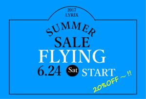 本日より!!!FLYING SALE☆&新作ワンピース! - LYRIX警固店