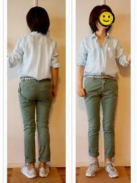 オフィス着 : カーキチノパン&シャツ2種 - Mirror Mirror...