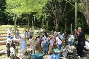 三木山の竹を使って竹馬づくりが開催されました - ブログ de みっきぃ