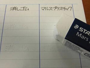 消しゴムモニター~ステッドラー・マルスプラスチック~ - 無罫フォント
