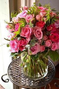 お誕生日のお祝いに♪ピンクmix花束 - 花色~あなたの好きなお花屋さんになりたい~