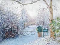 冬景色パート2 - まり子の水彩画
