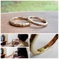 結婚指輪 犬島の銅カラミ - 工房Noritake