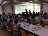 朝食 - 笠間市 ともべ幼稚園 ひろばの裏庭<笠間市(旧友部町)>