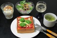 俺の生食パンでパンピザ〜♪ - Mme.Sacicoの東京お昼ごはん