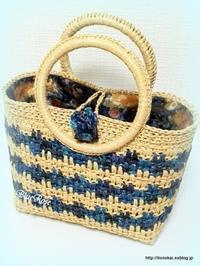 エコアンダリヤのカゴバッグ 完成しました♫ - ルーマニアン・マクラメに魅せられて