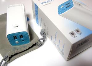 2ポート 10400mAhのモバイルバッテリーTL-PB10400 -