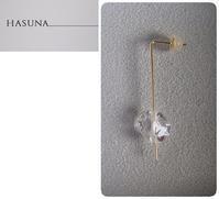 HASUNA ::: Lucent long pierced earrings - minca's sweet little things