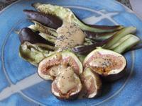 無花果のグリル 胡麻味噌ソース添え - やせっぽちソプラノのキッチン2