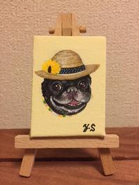 ジョージくんとハルクくん - どうぶつの顔舎:どうぶつの肖像画を描いています