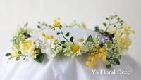 ミモザをいれたナチュラル花冠&リースブーケ - Ys Floral Deco Blog