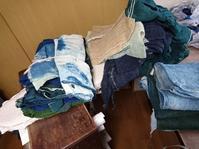 京都の準備 - 古布や麻の葉