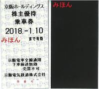 9045京阪HDの株主優待券(平成29年上半期) - 乗り物系株主優待券(ほか)の画像を紹介