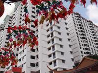 2014.2.15 スリ・マリアマン寺院とシンガポール仏牙寺龍華院 - 青空に浮かぶ月を眺めながら