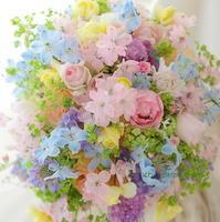 シャワーブーケ アニヴェルセル豊洲さまへ 翠雨 - 一会 ウエディングの花