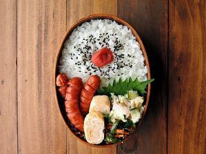 6/25(日)グリルソーセージ弁当 - おひとりさまの食卓plus