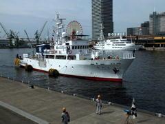 """6月26日(月)、神戸港中突堤に練習船""""愛知丸""""が入りました - フォトカフェ情報"""